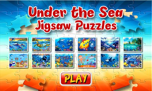 海のジグソーパズルの下で