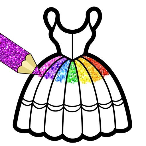 Glitter Dresses Coloring Book For Kids Google Play De Uygulamalar