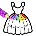 Glitter Dresses Coloring Book For Kids apk