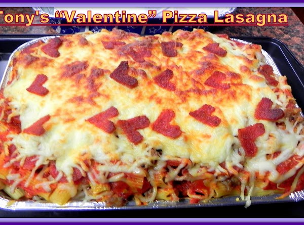 a slice of Pizza Lasagna for you!   (This does not set up like regular...