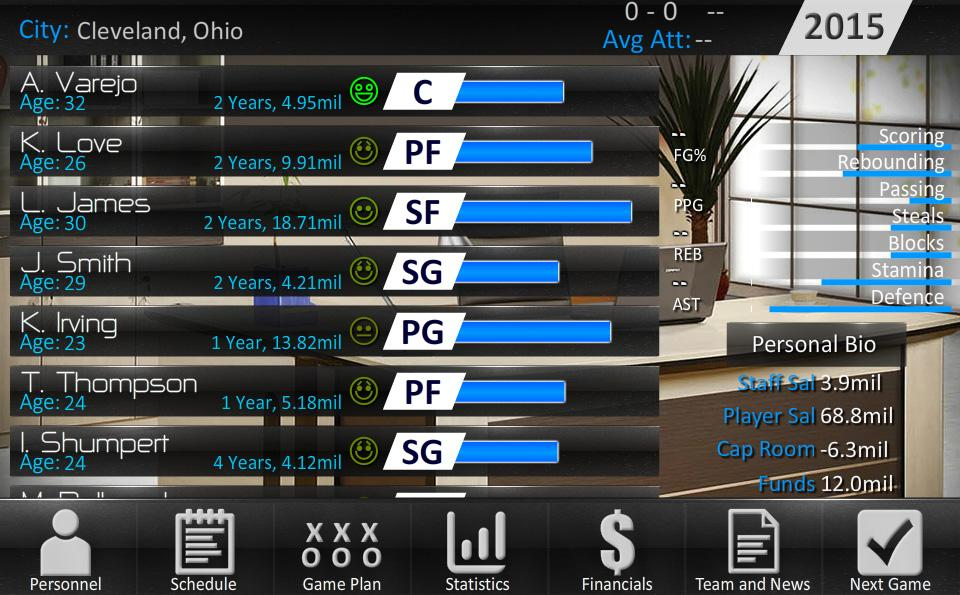 Basketball Dynasty Manager 16- screenshot