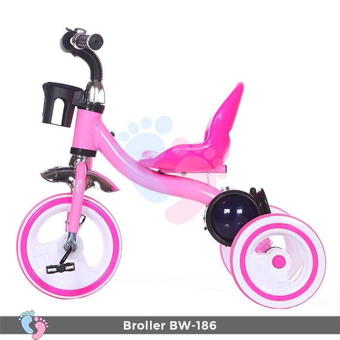 Xe đạp 3 bánh Broller XD3-186 có đèn bánh xe 3
