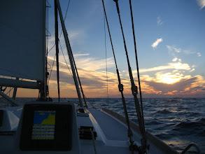 Photo: Atlantik'te ilk güneş batışı First sunset in the Atlantic.