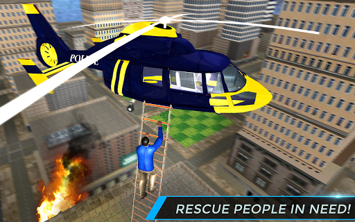 Real City Police Helicopter Games: Rescue Missions 4.0 screenshots 9