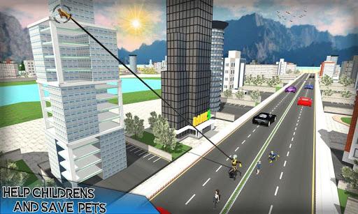corde élastique héros: super héros jeux de combat  captures d'écran 1