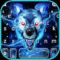 Blue Lightning Wolf Keyboard Theme icon