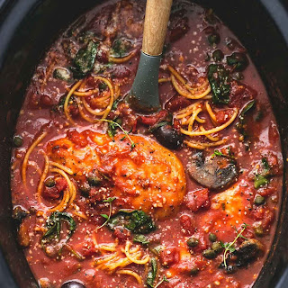 Healthy Slow Cooker Chicken Cacciatore.