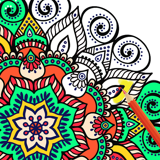 Adult Coloring Book: Mandala,Flowers,Animals Pages Icon