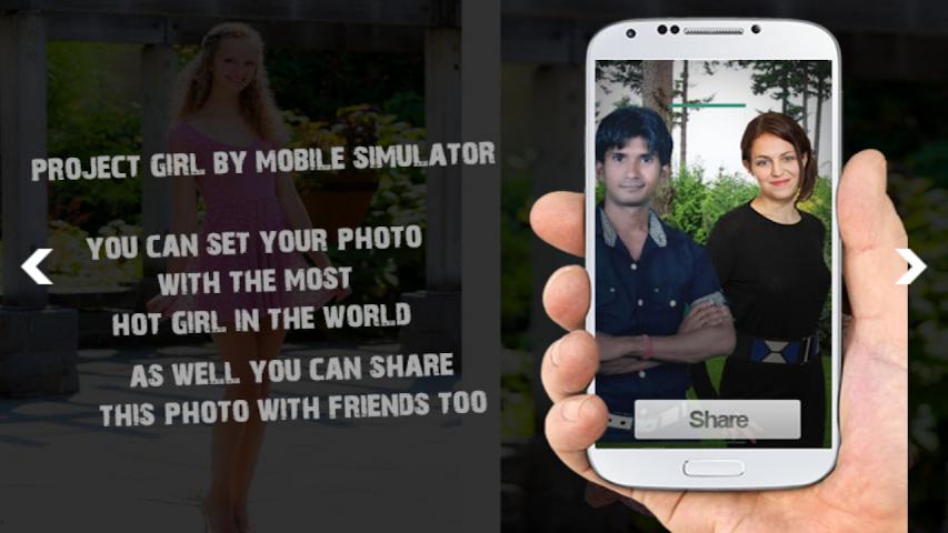 android Girl Projector Simulator + Cam Screenshot 2