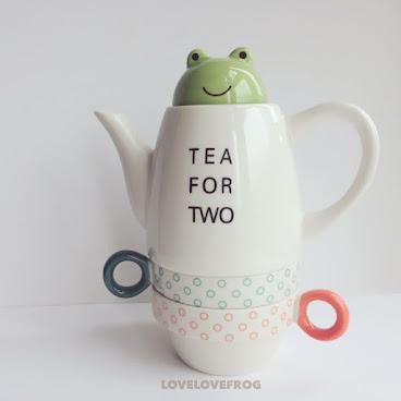 青蛙茶壺連2杯套裝