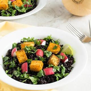 Cajun Butternut Squash & Black Rice Salad