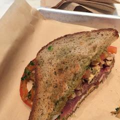 Prociuttio and Mary's chicken gf sandwich