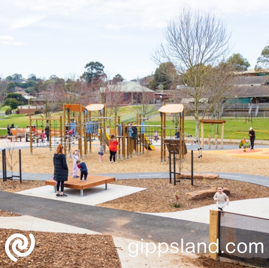 A new playground is the centrepiece of the park upgrade