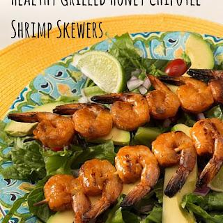 Healthy Grilled Honey Chipotle Shrimp Skewers