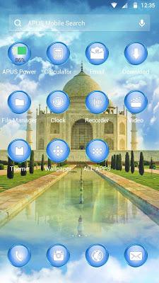 Clouds-APUS Launcher theme - screenshot