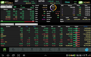Screenshot of efin Trade Plus