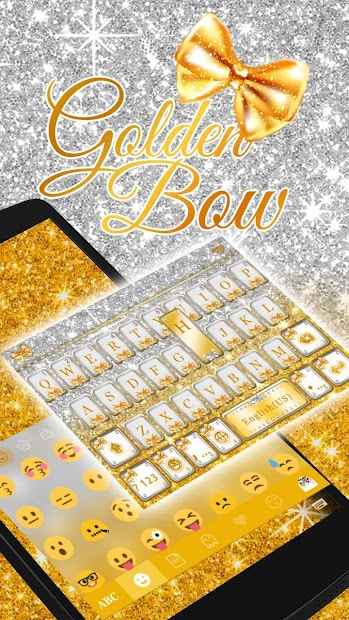 Golden Bow Keyboard Theme Android App Screenshot