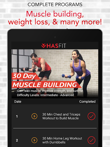 HASfit Home Workout Routines & Fitness Plans screenshot 13