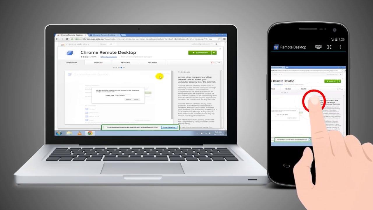 Usare il Pc da Smartphone e Tablet Android e iPhone iOS