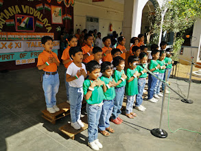 Photo: Tiny tots from KG performing a patriotic song
