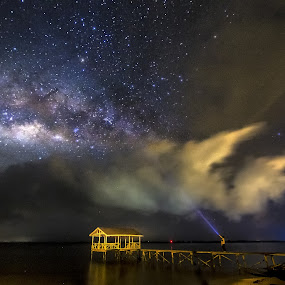 Mr. Waily and his Milky by Härris McHörrör - Landscapes Starscapes ( malaysia, kuala penyu, milky way, sabah,  )