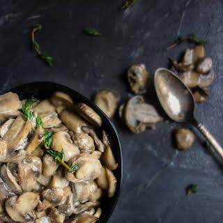 Buttery Brandied Sauteed Mushrooms.