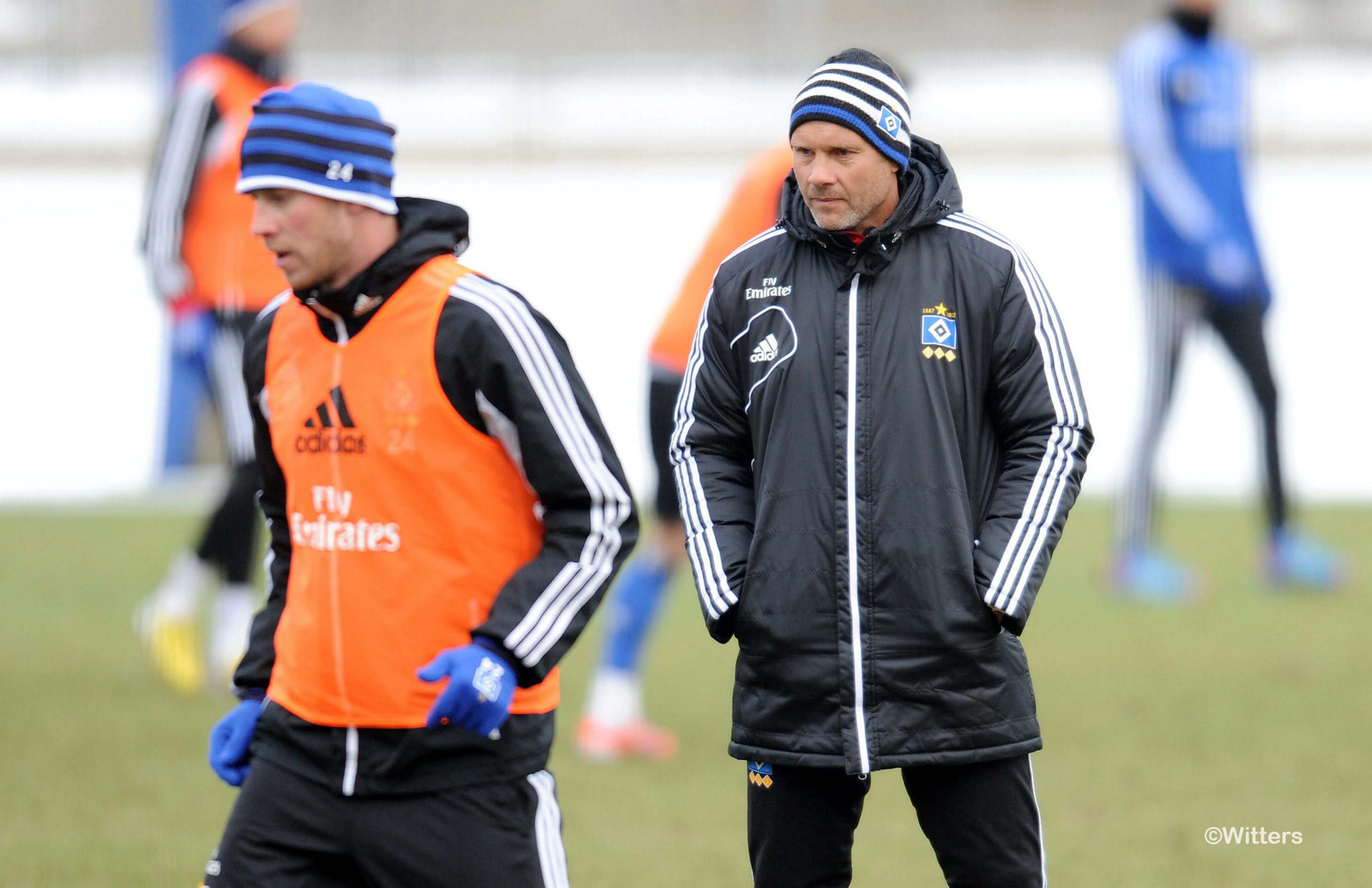Photo: v.l. Slobodan Rajkovic, Trainer Thorsten FinkFussball, Hamburger SV, Training