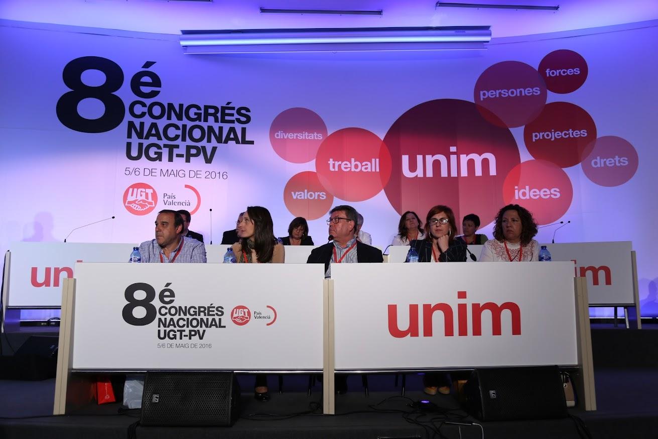 El VIII Congreso de UGT-PV aprueba la gestión de la Comisión Ejecutiva Nacional, la Comisión de Control Económico y la gestión de los comités nacionales