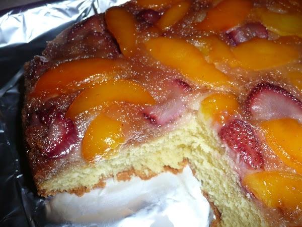 Strawberry-peach Upside Down Cake By Kimi Recipe