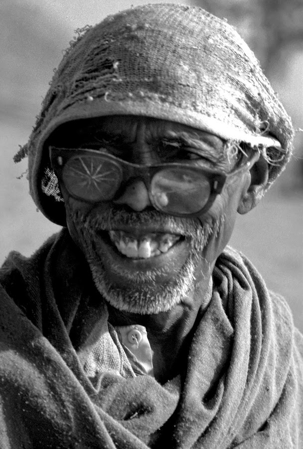 THE SMILE BEYOND POVERTY by Debashis Mukherjee - People Portraits of Men (  )