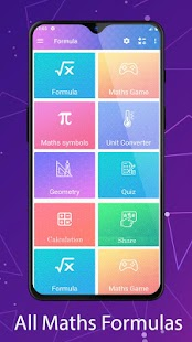 All Maths Formulas Screenshot