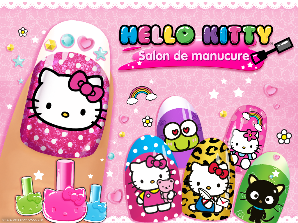 salon de manucure hello kitty applications android sur. Black Bedroom Furniture Sets. Home Design Ideas