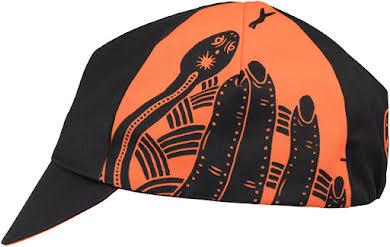 All-City DeerJerk Collaboration Cycling Cap: Orange/Black One Size alternate image 1