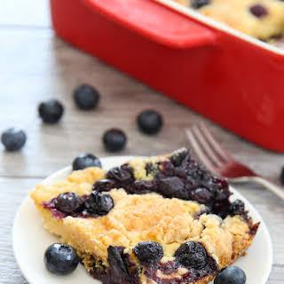Blueberry Cobbler Dump Cake.