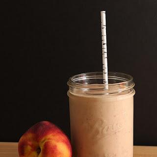 Peach Melba Basil Summer Smoothie