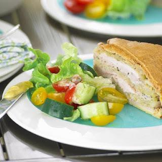 Chicken and Cabbage Pie.