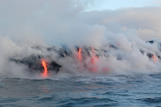 Photo: The boat comes closer to shore for great views of the lava at the 3rd entry point.