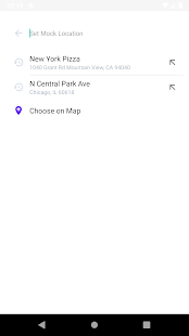 假GPS位置。 模擬位置。