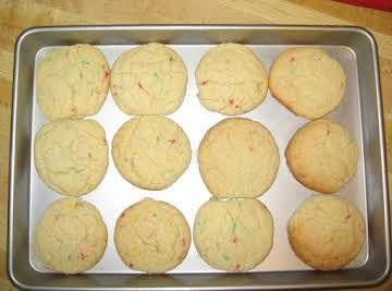 Fun Fetti Cake Cookies