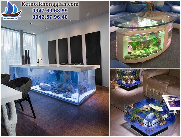 trang trí nhà với bể cá