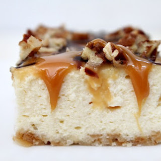 Caramel- Pecan Cheesecake Bars