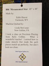 "Photo: 806 Special Award: Machine Quilting – ""Monumental Star,"" Edith Shaver and Linda McCuean"