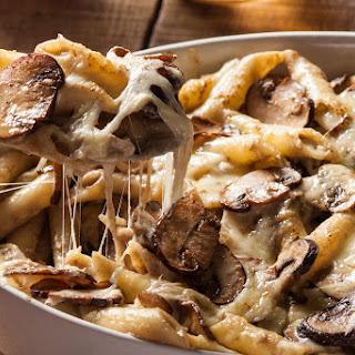 Creamy Mushroom Pasta Bake.