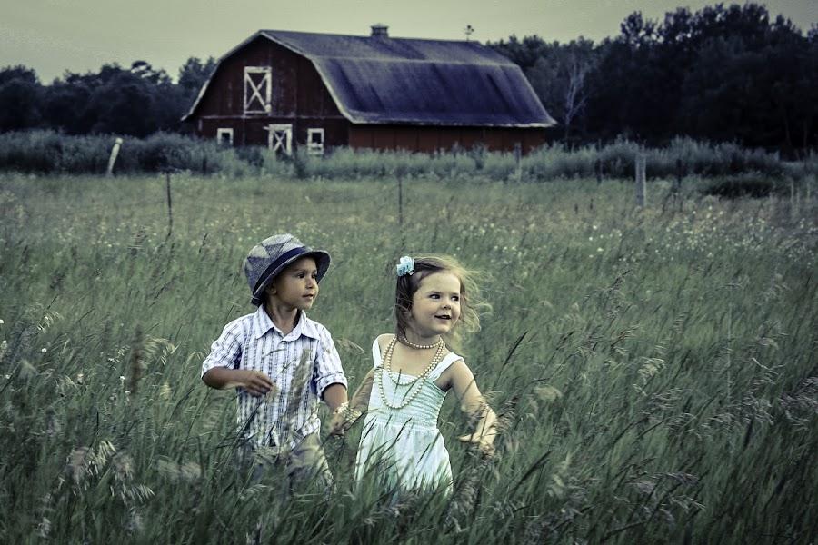 Adventurers  by Vanessa Meyers - Babies & Children Children Candids ( field, adventure, barn, outdoors, children,  )
