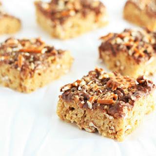 Peanut Butter Pretzel Rice Krispie Treats