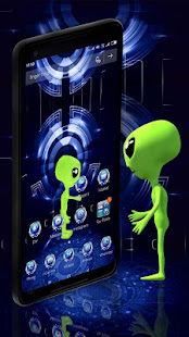 3D Alien UFO Launcher Theme
