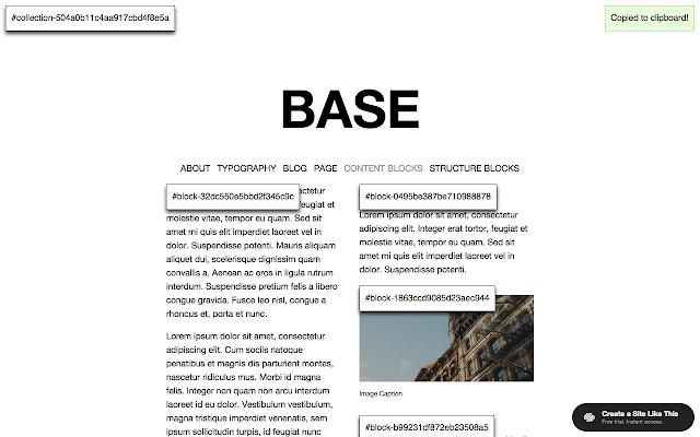 Squarespace Collection/Block Identifier