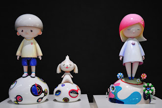 "Photo: A very cute exhibition piece at the lobby of Leeum, Samsung Museum of Art. This is Takashi Murakami's work based on the Japanese sub-culture and its ""Otaku"" generation.