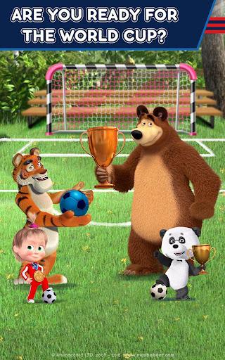 Masha and the Bear: Football Games for kids 1.3.7 screenshots 18
