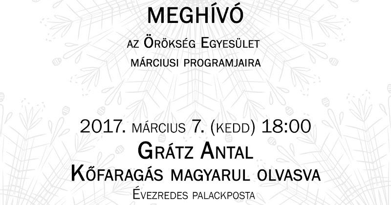 Grátz Antal építész előadása Kaposváron 2017.03.07